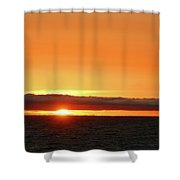 Calif Sunset March 2011 Shower Curtain