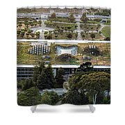 California Academy Of Sciences Living Roof In San Francisco Shower Curtain