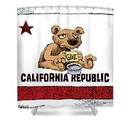 California Budget Begging Shower Curtain