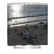 California Carlsbad Beach Almost Sunset Shower Curtain