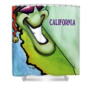 California Christmas Shower Curtain