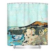 California Coast Collage Shower Curtain