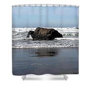 California Coast Ocean Waves 2 Shower Curtain