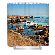 California Coast Rocky Cliffs Shower Curtain