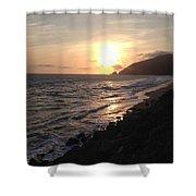 California Coast Sunset At Dunes Shower Curtain
