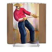 California Cowboy Shower Curtain