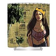 California Hyna Queen Shower Curtain