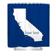 California Is Home Base White Shower Curtain