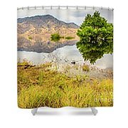 California Kaweah Lake Scene Shower Curtain