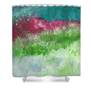 California Landscape- Expressionist Art By Linda Woods Shower Curtain