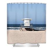 California Lifeguard Tower Photo Shower Curtain