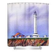 California Lighthouse Point Arena Shower Curtain