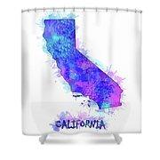 California Map Watercolor 2 Shower Curtain