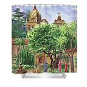 California Mission Carmel Basilica Shower Curtain
