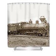 California Northwestern Railroad #30 4-6-0 Baldwin Locomotive Works Circa 1905 Shower Curtain