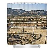 California Oil Field 14pdxl084 Shower Curtain