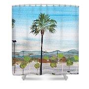 California Painting Shower Curtain