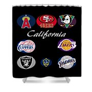 California Professional Sport Teams Collage  Shower Curtain