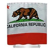 California Republic Flag Shower Curtain