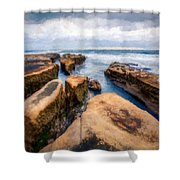 California Rocks Shower Curtain