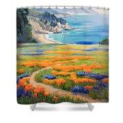 California Spring Big Sur Shower Curtain