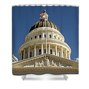 California State Capitol Cupola Shower Curtain