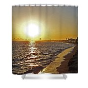 California Sunset Shower Curtain by Ernie Echols