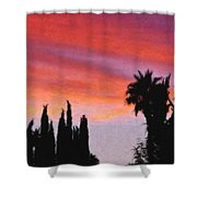 California Sunset Painting 3 Shower Curtain
