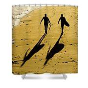 California Surfers On The Beach Shower Curtain