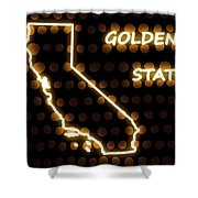 California - The Golden State Shower Curtain