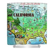 California Usa Shower Curtain