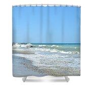 California Waves Shower Curtain