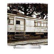 California Western  M 100 Gas Railcar  Skunk Train  Circa 1930 Shower Curtain
