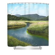 California Wetlands 2 Shower Curtain