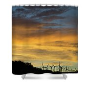 California Windmills Shower Curtain
