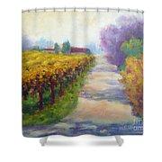 California Wine Country Shower Curtain