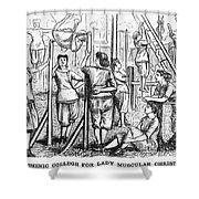 Calisthenics, 1867 Shower Curtain