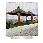 Call For A Picnic. Shower Curtain