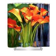 Calla Lilies Bouquet Shower Curtain