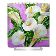 Calla Lillies 3 Shower Curtain