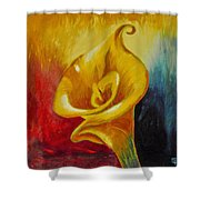 Calla Lilly Part B Shower Curtain
