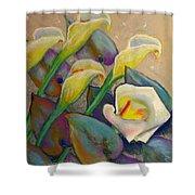 Calla Lily Design Shower Curtain