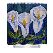 Calla Lily, Impressionism Art Shower Curtain