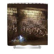 Calligraphic Light Shower Curtain