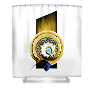 Calligraphy 104 1 Shower Curtain