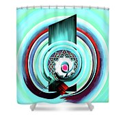 Calligraphy 104 4 Shower Curtain