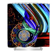 Calligraphy 107 3 Shower Curtain