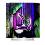 Calligraphy 108 4 Shower Curtain