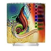 Calligraphy 109 3 Shower Curtain