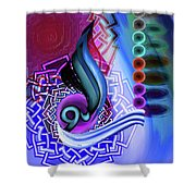 Calligraphy 109 4 Shower Curtain